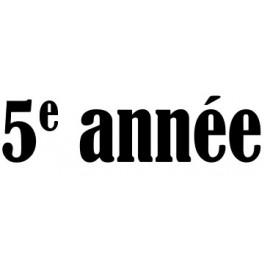 5e année (312)