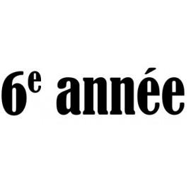 6e année Groupe A