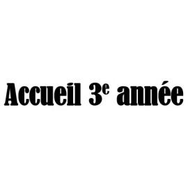 Accueil 3e cycle